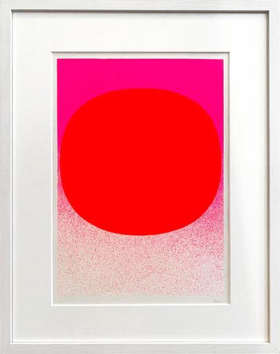Rupprecht GEIGER - Grabado - Variation Runde Farbe II Leuchtrot auf Pink Verlauf