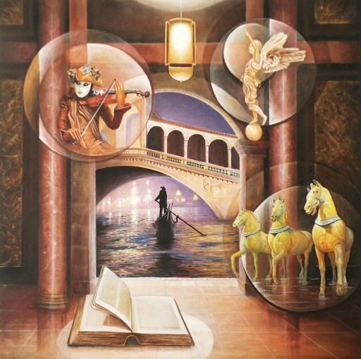 Frank GODILLE - Peinture - Soirée au Palais de Venise