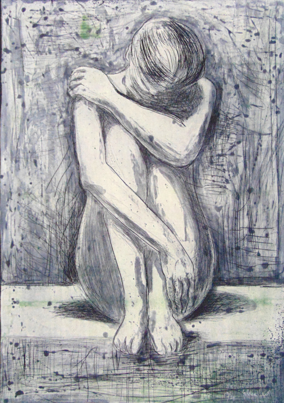 Jacob GILDOR - Print-Multiple - Seated Woman
