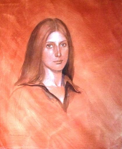 Michael FUCHS - Gemälde - Portrail of the painter Suzi Stienbacher