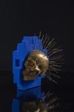 Bertrand GREGOIRE - Escultura - Punk skull face
