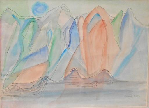Rosemonde KRBEC - Painting - Montagne de cristal.  Kristallberg. Crystal mountain