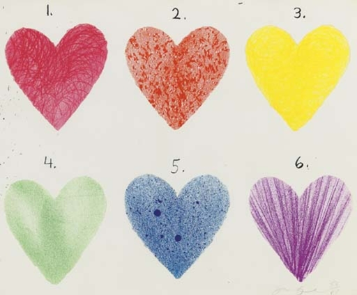 Jim DINE - Print-Multiple - Dutch Hearts