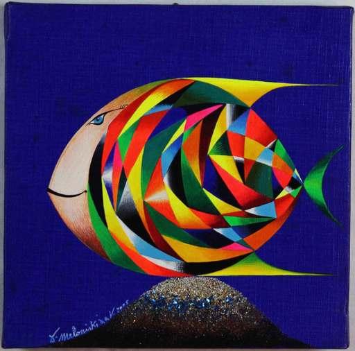 MELONISKI - Pintura - Il pesce immaginario