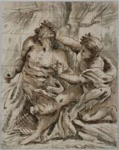 Paolo PAGANI - Drawing-Watercolor -  Apollo e Marsia