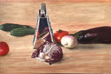 Avigdor ARIKHA - Pintura - Still Life with Grater and Vegetables
