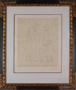 Pablo PICASSO - Print-Multiple - Famille de Saltimbanques