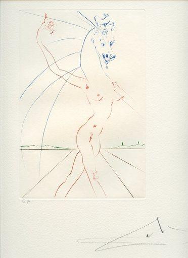 Salvador DALI - Estampe-Multiple - GRAVURE 1973 SIGNÉE AU CRAYON EA ML586 HANDSIGNED EA ETCHING