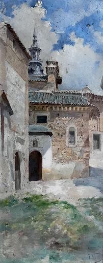 """José VERA GONZALEZ - Painting - Tolede """"Toledo"""""""