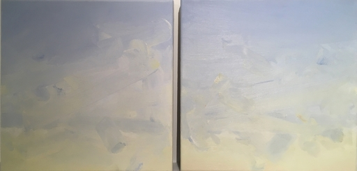 Michael VAN OFEN - Pintura - bleu-jaune