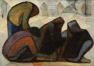 Kaete Ephraim MARCUS - Pittura - Group of Figuers