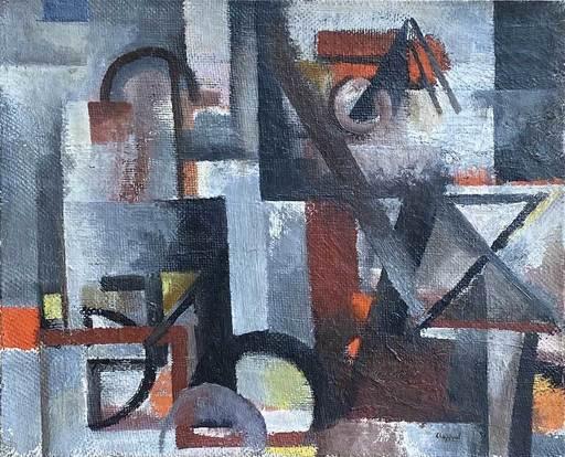 Youla CHAPOVAL - Gemälde - Composition rouge et grise