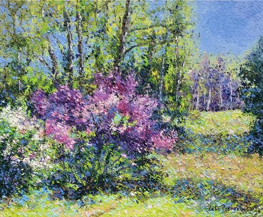 Lelia PISSARRO - Pintura - Le Jardin de David et Lélia