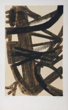 Pierre SOULAGES - Estampe-Multiple - Lithographie Brou de noix