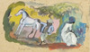 Jules PASCIN - Pintura - The Small Horse- Small Black Boy- Young Woman
