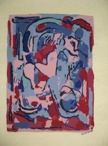 Albert GLEIZES - Estampe-Multiple - composition 1945