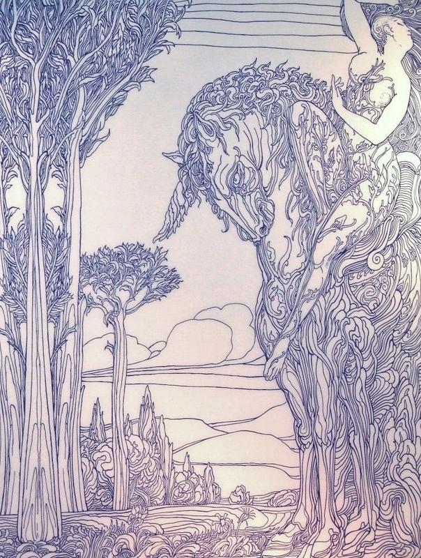 Ernst FUCHS - Print-Multiple - Nymph, 1984.