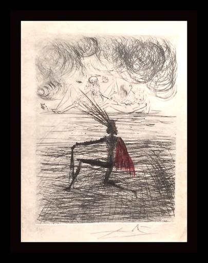Salvador DALI - Stampa-Multiplo - Faust Chevalier a Genou