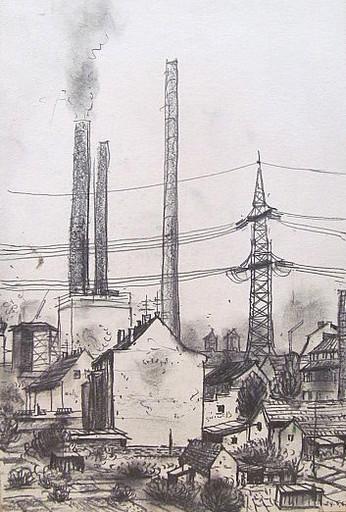 Friedrich EINHOFF - Drawing-Watercolor - #20011: Steinhalde - Heßler