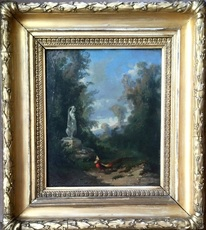 John Appleton BROWN - Painting - Peacock landscape I - Circa 1866-67 or 1874