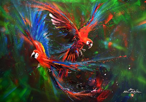 Rémi BERTOCHE - Painting - Tropical vibes