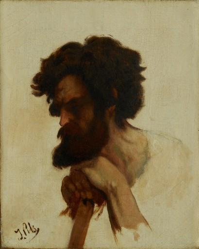 Isidore PILS - Pintura - etude de tête de kabyle