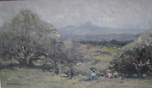 Fernand MAILLAUD - Peinture - PAYSANS  DANS LES CHAMPS