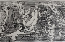 Raoul DUFY - Print-Multiple - The Undines, [Six Bathers], from: The Sea