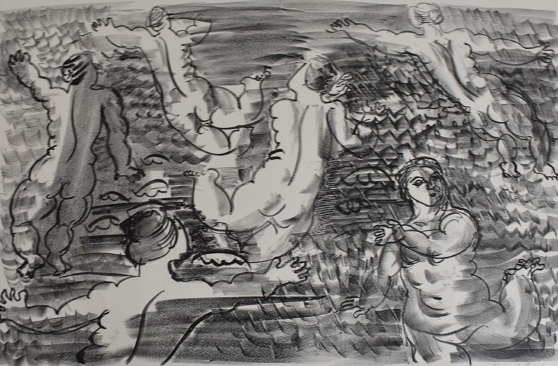 拉奥尔•杜飞 - 版画 - The Undines, [Six Bathers], from: The Sea