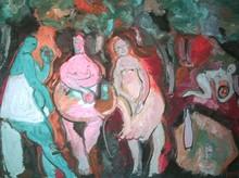 Bernard MOREL - Pintura - DEJEUNER
