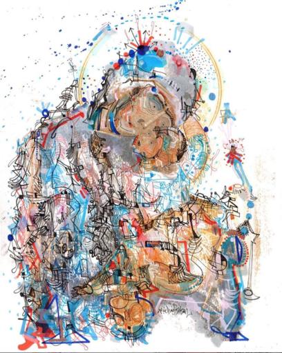 Michael ALAN - Drawing-Watercolor - Urban Decay