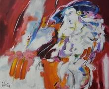 Bernard CADENE - Pittura - La dame du Lavandou