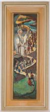 """Israel ABRAMOVSKY - Gemälde - """"Moses leading the Israelites"""", oil on panel, 1930s"""