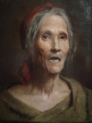 Eugène DEULLY - Peinture - le Rêve et la Réalité - étude