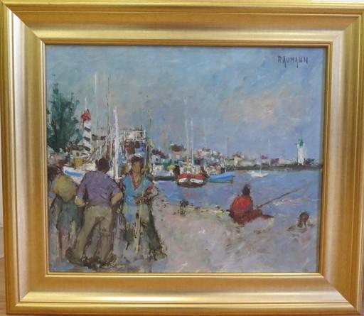 Joseph RAUMANN - Painting - Pêcheurs