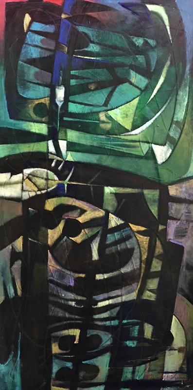 Raul Enmanuel POZO - Pintura - Simbolo totemico