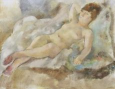 Jules PASCIN - Painting - Rebecca Couchée