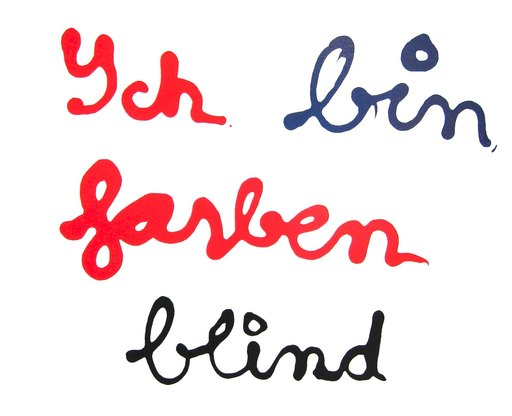 BEN - Stampa Multiplo - Ych Bin Farben Blind