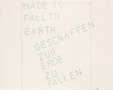 Lawrence WEINER - Drawing-Watercolor - Made to fall to earth
