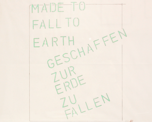 Lawrence WEINER - Disegno Acquarello - Made to fall to earth