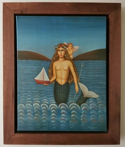 "Theodosis THEODOSIOU - Pittura - Mermaid ""Gorgona"""