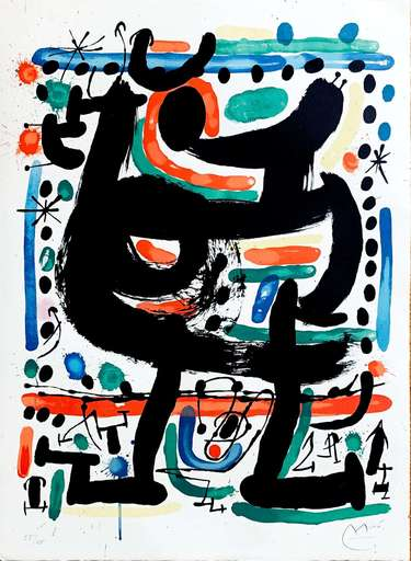 Joan MIRO - Grabado - Poster for the Opening of the Mourlot Atelier in New York