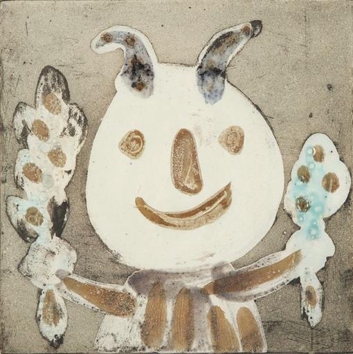 Pablo PICASSO - Ceramiche - Faune en buste aux marottes