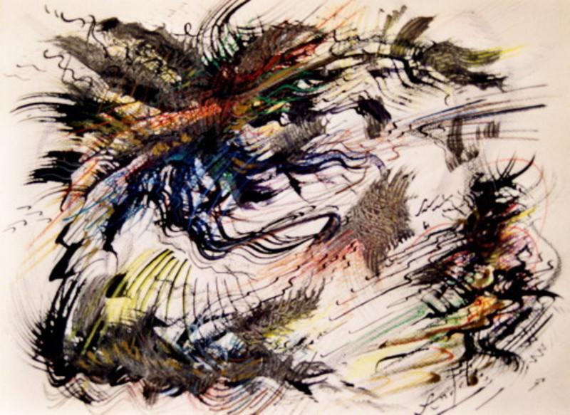 Didier ANGELS - Peinture - au rytme du dragon