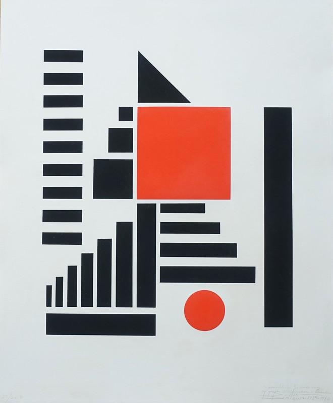 Henryk BERLEWI - Estampe-Multiple - Mechano-Faktur