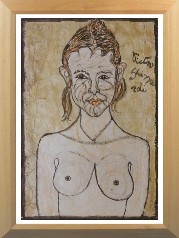Pietro GHIZZARDI - Painting - Nudo di giovane donna