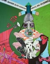 Myriam BAUDIN - Peinture - Déjeuner sur chardons