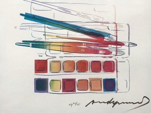 安迪·沃霍尔 - 版画 - Watercolor Paintkit with Brushes FS II.288