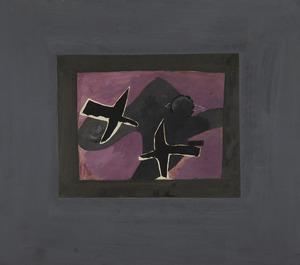 Georges BRAQUE - Drawing-Watercolor - Les deux oiseaux noirs