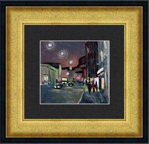 Valeriy NESTEROV - Pintura - Night Sretenka street. Moscow